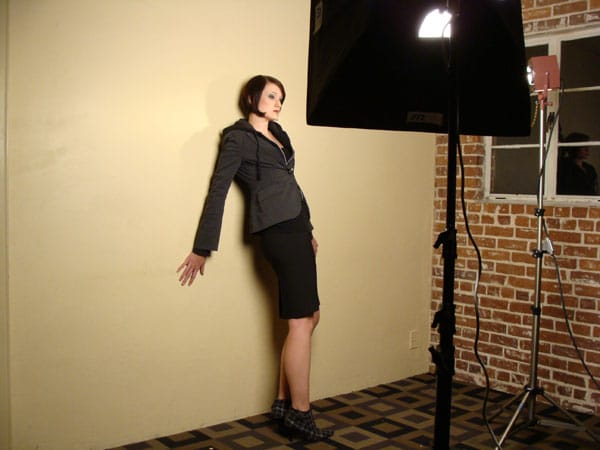 Lisa Madura - Behind the scenes - Photographer David Howe. © 2008 Reid Walley. All rights reserved.