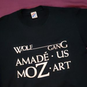 Mozart T-shirt Design. Copyright © 1989 Reid Walley.