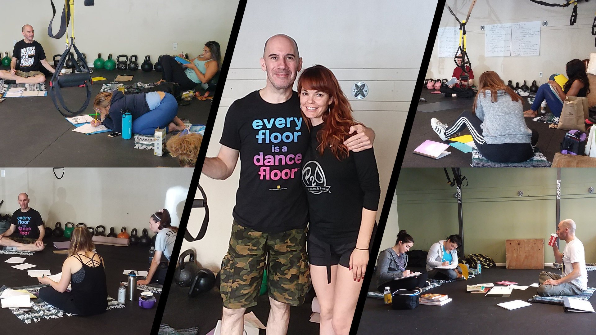 Leading Public Speaking & Confidence Workshops during owner Lindy Hobbs's Hot Pilates Instructor Training. P2O Hot Pilates & Fitness, Sacramento, CA.