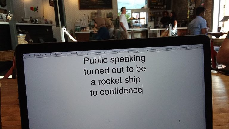 Public speaking leads to confidence