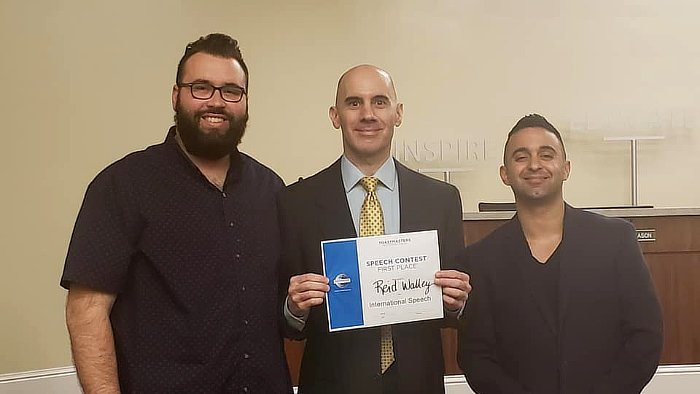 Reid Walley 1st Place Winner Toastmasters Area 82 International Speech Contest Mar 8 2019 featured