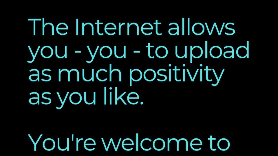 Upload Positivity To The Internet featured