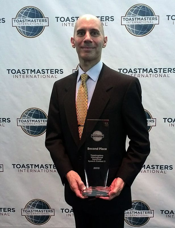 2nd-Place Winner 2013 Toastmasters International Semifinal Speech Contest. District 39. Capital City Toastmasters #142 in Sacramento, CA.